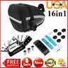 Bike Bicycle Saddle Bag Cycling Seat Pack 16 in 1 Multi Function Repair Tool Kit