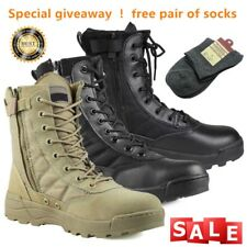 Desert Army Side Zip Combat Patrol Boots Tactical Cadet Military Tan Jungle 4-10