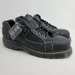 NEW Dr. Doc Martens size 14 US ASTM Safety Steel Toe Shoes Industrial Boot Black