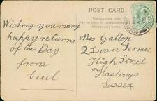Miss Gallop. 2 Swan Terrace, Hastings, Sussex 1905 - 'Cecil'   (ref:L.1924)