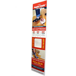 HandiTreads HTTC0624CP4 ClearGrip Unfinished Vinyl Anti-Slip Tape 6 W x 24 L in.