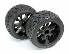 Absima 1/10 RC Car Buggy Truggy Tires On-road Black 40mm Wide Front Wheels (2)