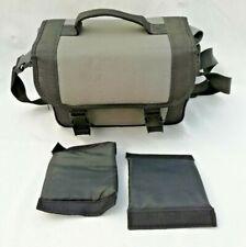 Vintage Large Camera Bag SLR DSLR Camcorder Grey Black w/ Strap