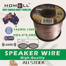 SW02A High Performance 100FT 14AWG Audio Cable Speaker Wire With Plastic Roll