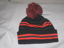 Under Armour Women's Gray and Coral Pink Retro Pom Winter Hat NWT