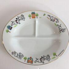 Walt Disney Productions 101 Dalmatians 3 Compartment Childs Dish Sango Vintage