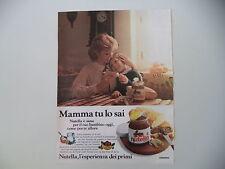 advertising Pubblicità 1979 NUTELLA FERRERO