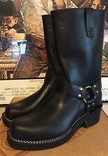 CUSTOM WESCO RJL LTD Harness Boots Double Midsole Black Tie Domain Leather 9.5 D