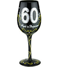 60 Aged To Perfection Lady Party Wine Glass