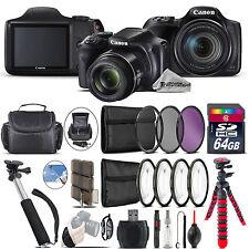 Canon PowerShot SX540 HS Camera + Spider Tripod + Monopad + Case - 64GB Bundle