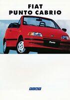 3007FI Fiat Punto Cabrio Prospekt 1994 5/94 deutsche Ausgabe brochure prospetto