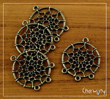 Bronze tone Dreamcatcher charms 27mm~PACK of 4~ DIY pendant necklace earrings