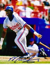 MARQUIS GRISSOM  MONTREAL EXPOS  ACTION SIGNED 8x10