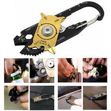 20In1 Multi Purpose Outdoor Survival Tool Screwdriver Wrench Keychain EDC Pocket