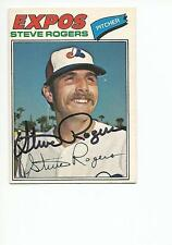 STEVE ROGERS Autographed Signed 1977 OPC card Montreal Expos COA