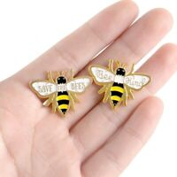 Bee Kind Pin Badge Save The Bumble Bee Gold Tone Metal Enamel Brooch Embossed