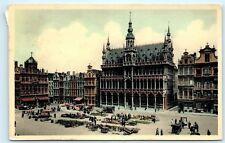 *Belgium Bruxelles Brussel Grand Place Maison du Rol Vintage Postcard C19
