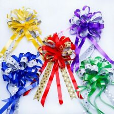 10Pcs Dot Large Pull Bow Ribbons Gift Packing Flower Bow Wedding Car Adornments