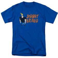 Johnny Bravo Johnny Logo T Shirt Mens Licensed Cartoon Merch Whoa Mama! Royal