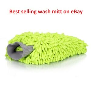 Chemical MIC_493 Chenille Microfiber Premium Car Wash Mitt Mitten Pad RV Truck