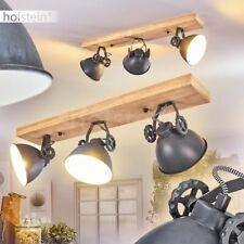 Decken Lampen Retro Wohn Schlaf Zimmer Beleuchtung Flur Strahler Holz/blaugrau