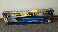 Zoo Med AquaSun T5-HO Double Light Linear Fluorescent Hood 24-I... Free Shipping