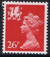 GB QEII MNH STAMP Wales SG W61 26p Rosine PP  Regional Machin Definitive