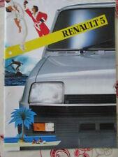 CATALOGUE AUTO : RENAULT : RENAULT 5    09/1982 - EN ANGLAIS -