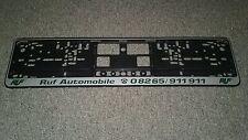 Ruf License Plate Frame Porsche New