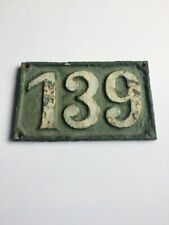 Vintage 1900's Cast Iron Sign House Number 139