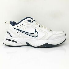 Nike Mens Air Monarch IV 415445-102 White Running Shoes Lace Up Low Top Size 10