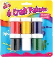 Kids Craft Paint Set 6 Children's Art & Craft Painting Pots Fun Colours Painting
