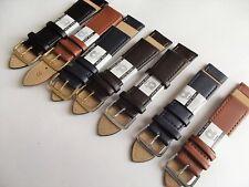 cinturini in vera pelle vitello piatto vari colori e misure watch bands straps