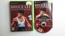Bruce Lee Quest of the Dragon Original XBOX Video Game Complete! FREE SHIPPING!!