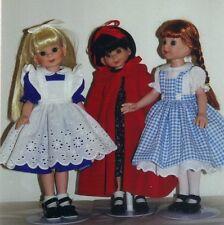 "Alice wonderland PATTERN  fits 13-14 "" Betsy McCall Kish Little darling dolls"