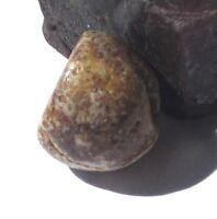 RARE SMALL GORGEOUS ANCIENT BANDED JASPER EYE PENDANT MALI BEAD 11mm x 13mm