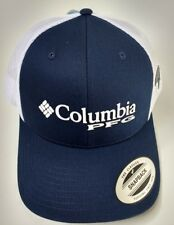 Columbia Unisex Pfg Mesh Ball Cap Hat Navy Blue Snapback One Size