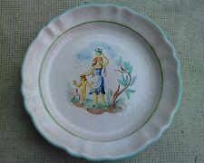 plat assiette ceramique design 50 MENELIKA decor porteuse d'eau femme et enfant