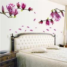 Magnolia Flowers Tree Wall Stickers Decal Home Art Decor Mural Wallpaper Vinyl T