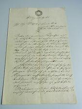 Dokument WIEN 1837: Bau-Veränderungen Farbenfabrikant WALITSCHEK in HERNALS