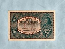 Banknote - 1920 Poland - Polska & Krajowa  - 1/2 Marki Polskiej
