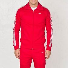 adidas Originals Beckenbauer Zip up Track Top Jacket Red Medium Td076 QQ 12