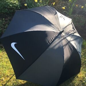 "Nike Golf Umbrella.Black & Grey 60"" Single Canopy With Cover"