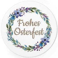 48 Oster-Aufkleber Set Frohe Ostern Geschenke Sticker Etiketten rund Blumen