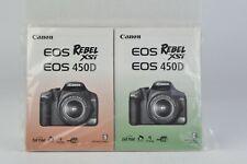 Canon Rebel XSi / 450D Factory Bundle Instruction Manual E / S Sealed (161)