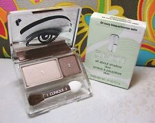 Clinique Ivory Bisque/Bronze Satin All About Shadow Duo Full Size in Retail Box