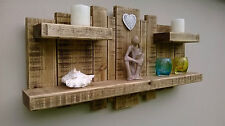 SHELF FLOATING SHELF  Rustic Reclaimed Wood Wooden Sculpture Unit Shelves