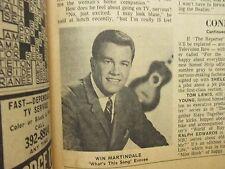 Nov.-1964 Lancaster Pa TV Week(WINK MARTINDALE/ANNE BANCROFT/BEVERLY HILLBILLIES