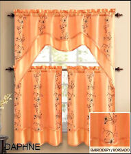 VCNY® Daphne Embroidered Kitchen Curtain Set - Assorted Colors