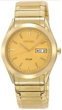 Seiko Men's  Gold Solar Powered  Expansion Watch SNE058